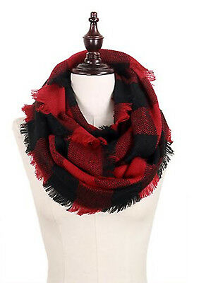 StylesILove Plaid Lovers Collection Womens Infinity Scarf