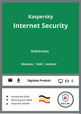 Kaspersky Internet Security 2018 (1, 3, 5 oder 10 PC / Geräte, Multi-Device)