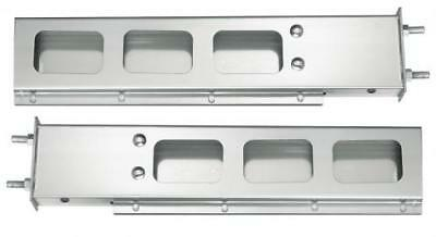 Stainless Steel Mud Flap Hanger Bar w/ Square Light Cutouts Spring Loaded 3.75