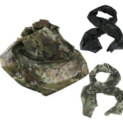 Military Tactical Scarf Camo Scrim Net Army Sniper Veil Hunting Sas Disguise