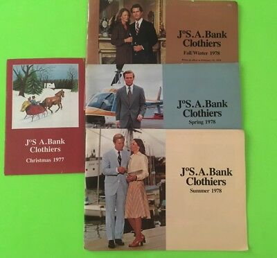 4 Jos A. Bank Clothiers Clothing Catalogs Vintage 1977 1978