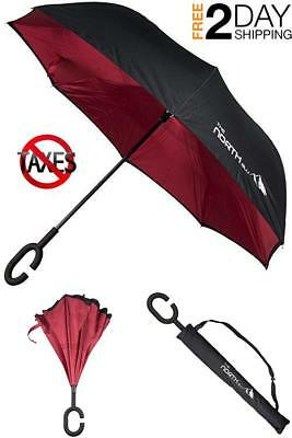 Inverted Umbrella Down Reverse Opening Double Layer Upside Folding Windproof New