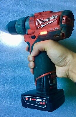"""$190 BY PICK5"" Milwaukee 2404 20 M12 FUEL 13mm hammer Drill Driver Battery"