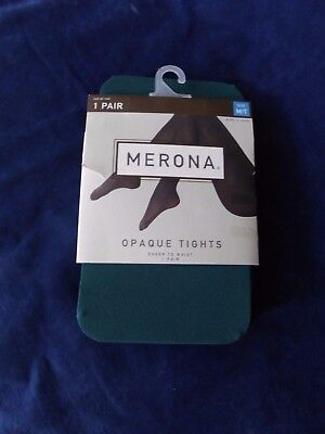 Merona Tights, Sheer to the Waist Opaque Tights, GREEN, M/L