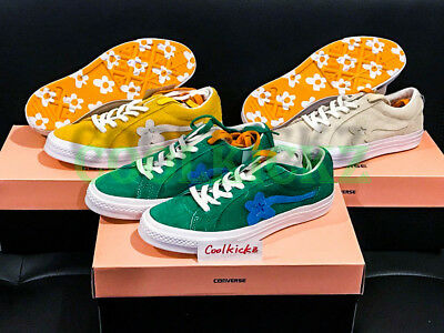 38b210397ba6 Tyler The Creator x Converse One Star Golf Le Fleur Wang 4-12 Green Yellow