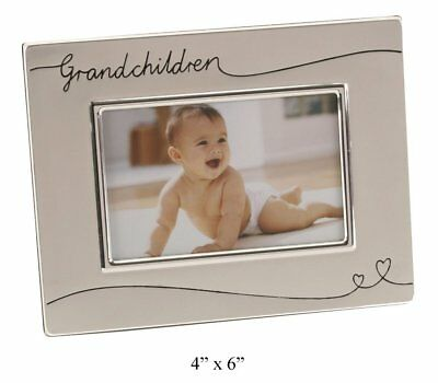 "Two Tone Silver Plated Grandchildren 4"" x 6"" Photo Frame by Haysom Interiors"