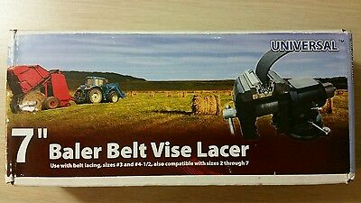 """NEW 7"""" Clipper Vise Lacer Tool- Round Hay  Baler Belt Lacer FAST FREE SHIPPING!"""