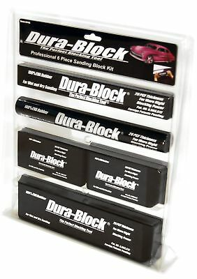 Dura-Block Black 6-Piece Rigid Sanding Block Set for Wet or Dry Sand Stick Paper