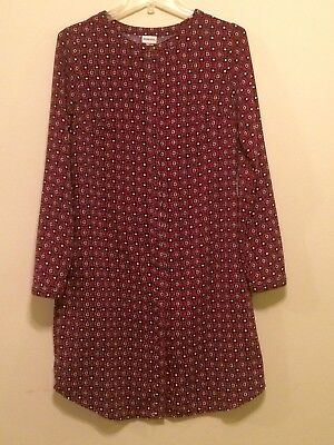 4393d90d004e MERONA PRINT SHIRT Dress Tunic Size XS, Pockets. - $7.99 | PicClick