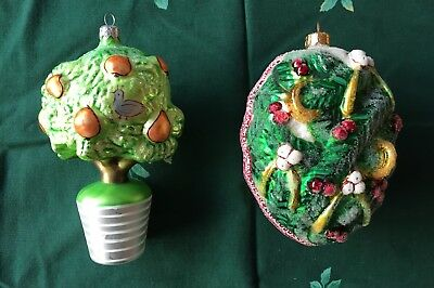 Partridge in a Pear Tree and Five Golden Rings Radko Ornaments
