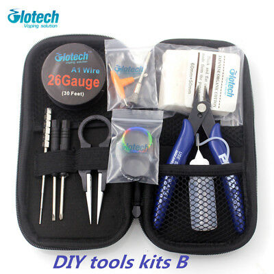 Glotech coil jig organic cotton pliers tweezer heating wire DIY tools kits RDA