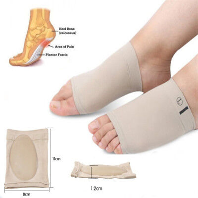 ARCH Support Shoe GEL Insole Flat Feet Pad PAIN RELIEF Plantar Fasciitis Foot GN
