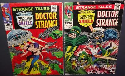 Strange Tales #153, 155 1966; 2-issue lot; Kirby/Steranko a 3.0 BV$22 50%Off