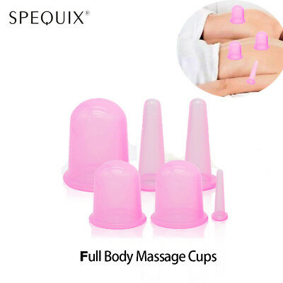 2019 6PCS Massage Set Silicone Cellulite Suction Cup Body Vacuum Therapy Cupping