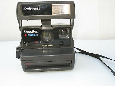 Vintage Polaroid One Step Close Up Instant 600 Film Camera tested and working