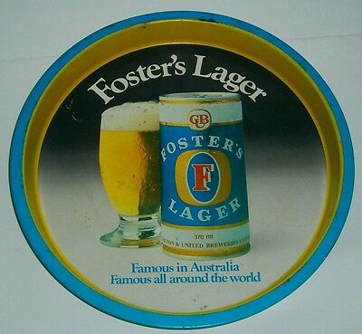 Fosters Lager Famous In Australia Beer full metal round bar drink carry tray