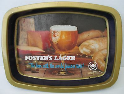 Fosters Beer metal design  bar drink serving tray for home bar pub or collector