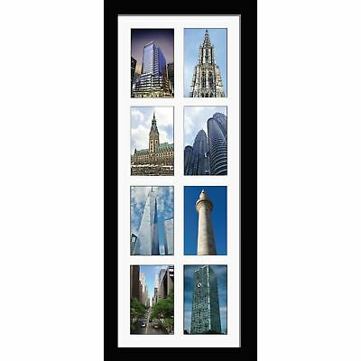 """Large multi picture photo aperture frame 6""""x 4"""" inches with 8 openings Portrait"""