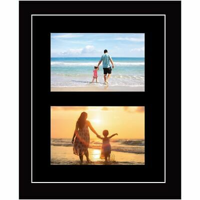 Large multi picture photo aperture frame A4 size with 2 openings Portrait