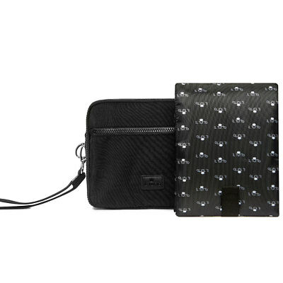 MILO ALL-IN-ONE NAPPY CHANGER POUCH IN BLACK SILVER from Il Tutto