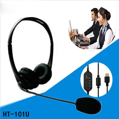 Office Call Center Telephone/IP Phone Headset with Mic USB Modular Connector