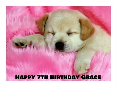 PUPPY DOG A4 Cake Topper Edible Icing Image Birthday Party Decoration