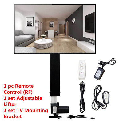 Electric TV Lift LED LCD Plasma VESA Mount Bracket  26-60'' W/ Remote Controller
