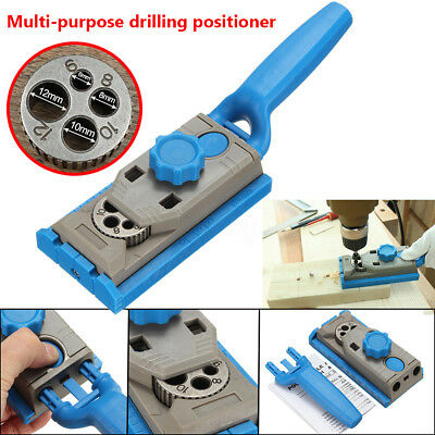 Jig Pocket Hole Drill Dowel Wood Jointing Drilling Tenon Locator For Woodworking