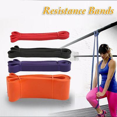 Resistance Loop Power Bands Rubber Band Exercise Crossfit Strength Fitness GYM