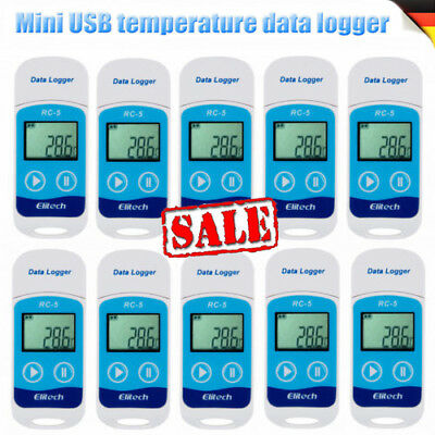RC-5 Digital USB Temperatur Datenlogger wasserdicht Thermometer °C  °F Recorder