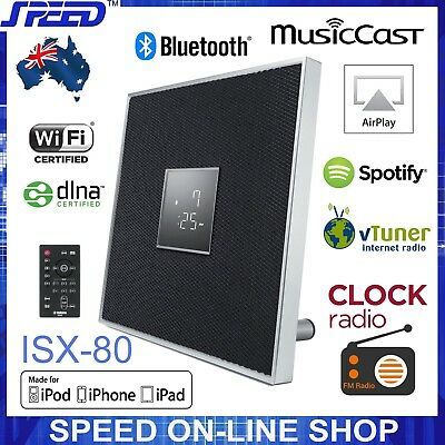 Yamaha ISX-80 MusicCast Bluetooth AirPlay Clock Radio 30W Speaker – Black