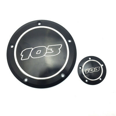 Black 103 Derby Cover Timing Timer Cover for Harley Dyna 96-13 Softail Touring