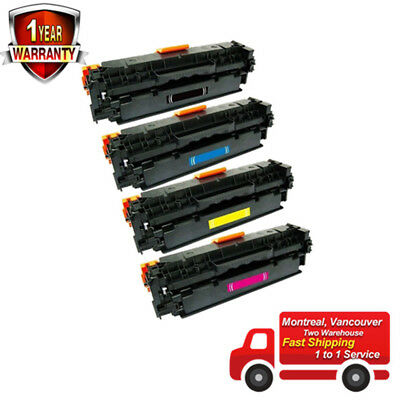 4PK Combo Set Toner Cartridges for Canon 131 Black, Cyan, Magenta, Yellow