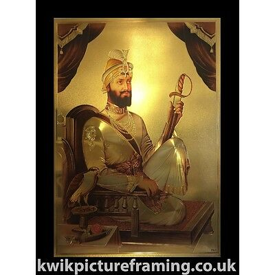 "Guru Gobind Singh Ji Orignal Print In Size - 22"" x 16"" inches God Photo Framing"