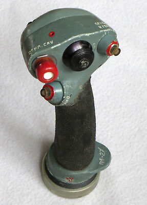 Soviet Russian Air Force Fighter Jet Su Sukhoi Pilot`s Cockpit Control Joy stick