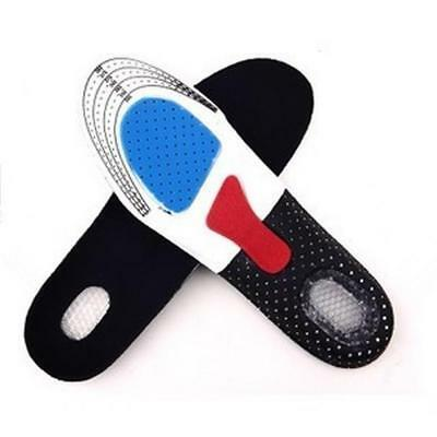 FAUS Men Gel Orthotic Sport Running Insoles Insert Shoe Pad Arch Support Cushion