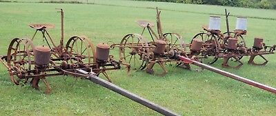 (Choice) of 1 from 3 Antique 2 Row Horse/Mule Drawn Corn Planter John Deere & IH