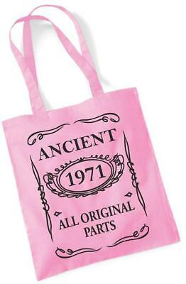 49th Birthday Gift Tote Mam Shopping Cotton Bag Ancient 1971 All Original Parts