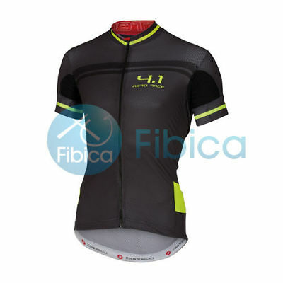 New Castelli Cycling FREE AR 4.1 Jersey FZ Men's Anthracite Green S-XL