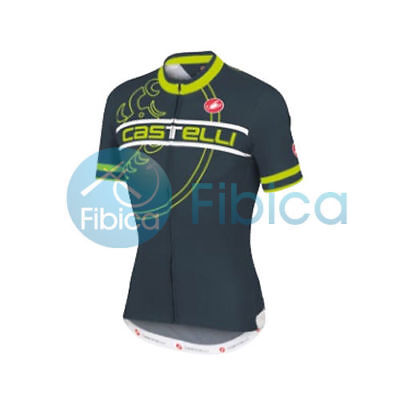 New Castelli Cycling Segno Jersey FZ Full Zip Men's Green M-XXL