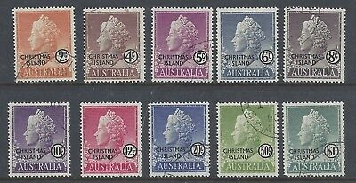 Christmas Island 1958 Queen Elizabeth Definitives Stamp set ( Fine Used)