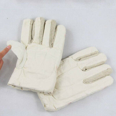 30cm Cotton Canvas Work Gloves Safety Gardening Mechanic Construction -White