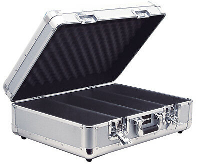 Sound Lab Lift Off Lid Euro Style CD Music Storage Case Holds 150 CDs- Silver