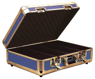 Sound Lab Lift Off Lid Euro Style CD DVD Music Storage Case Holds 150 CDs- Blue