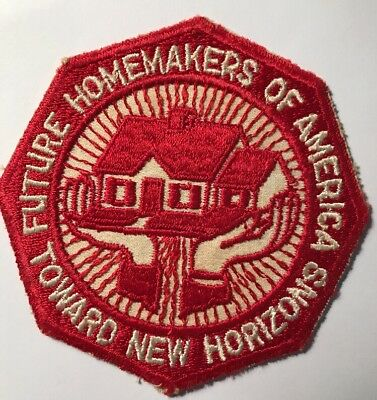 """Vintage """"future Homemakers Of America~Toward New Horizons"""" Patch"""