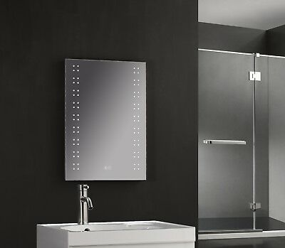 700 x 500mm Illuminated Bathroom LED Mirror Bluetooth Speakers, Demist & Shaver