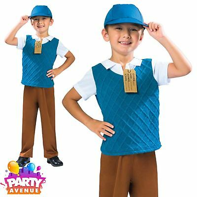 Boys 1940s School Boy Costume Historical Fancy Dress Book Day Outfit 5-6yrs