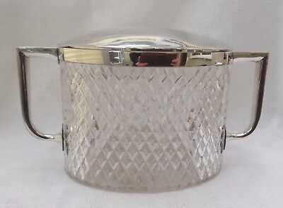 Antique John Grinsell & Sons Cut Glass Biscuit Box C. 1890