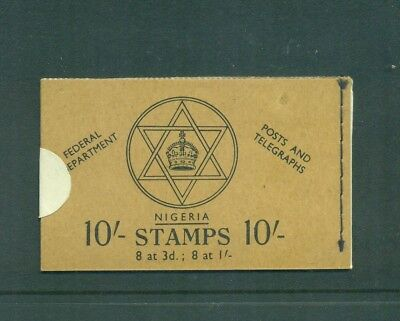 Nigeria  1957 10sh Posts and Telegraphs with Unbroken Seal  Booklet  Seal SB9