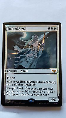 1x FOIL EXALTED ANGEL - Mythic - From the Vault - MTG - NM - Magic the Gathering
